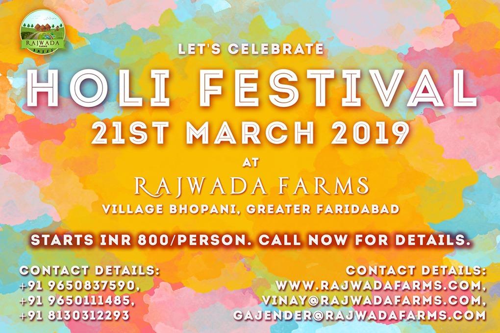 Rang De Rajwada - Holi Festival 2019 at Rajwada Farms